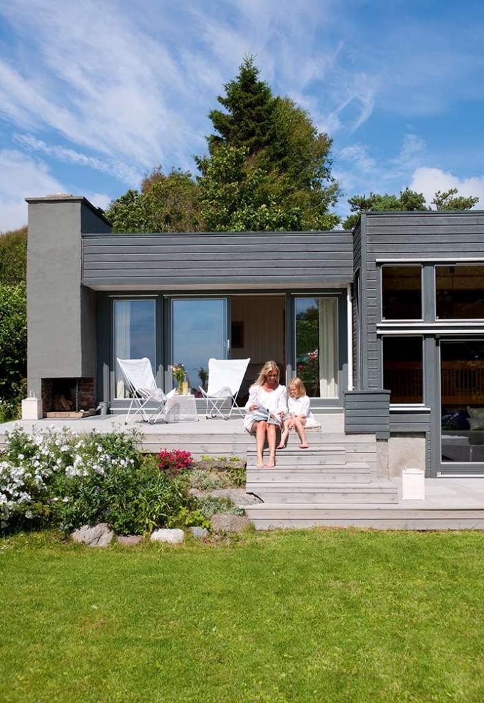 mrk eller lys farge p huset - Moderne Huser 2015