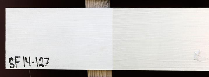 Test av maling til hvite hus