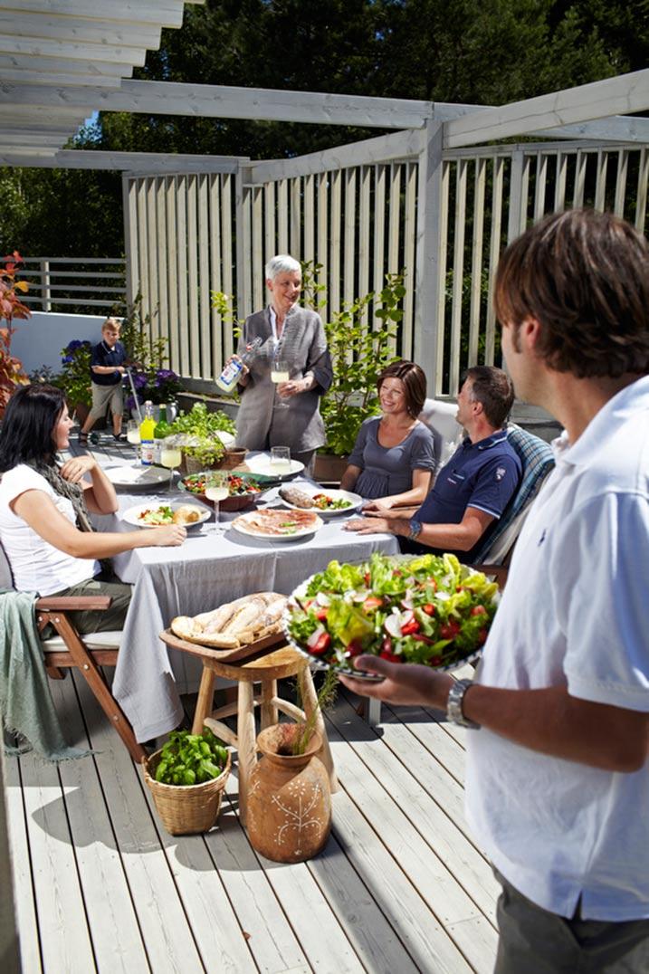 Vakker blir terrassen med 9073 Shimmergrå