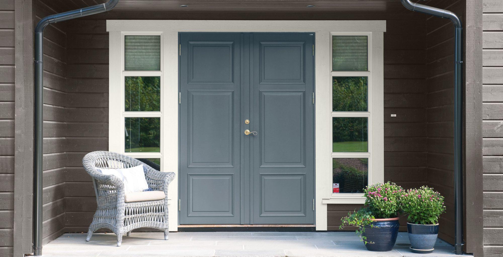Sett farge på inngangsdøren
