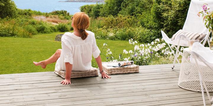 Hvor snart bør du beise din nye terrasse?