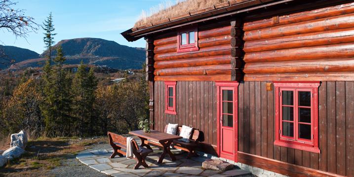 Ny farge på hytta!