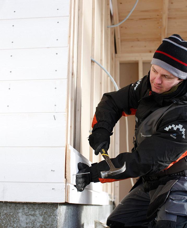 Bygge hus eller skifte kledning i vinter?