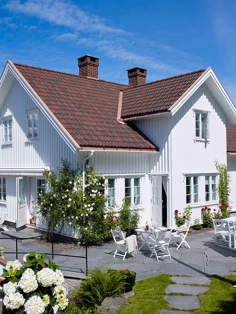 Vurderer du å male huset i en hvitfarge