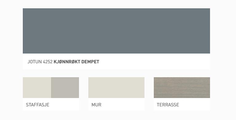 Enkelt å finne matchende farger til huset