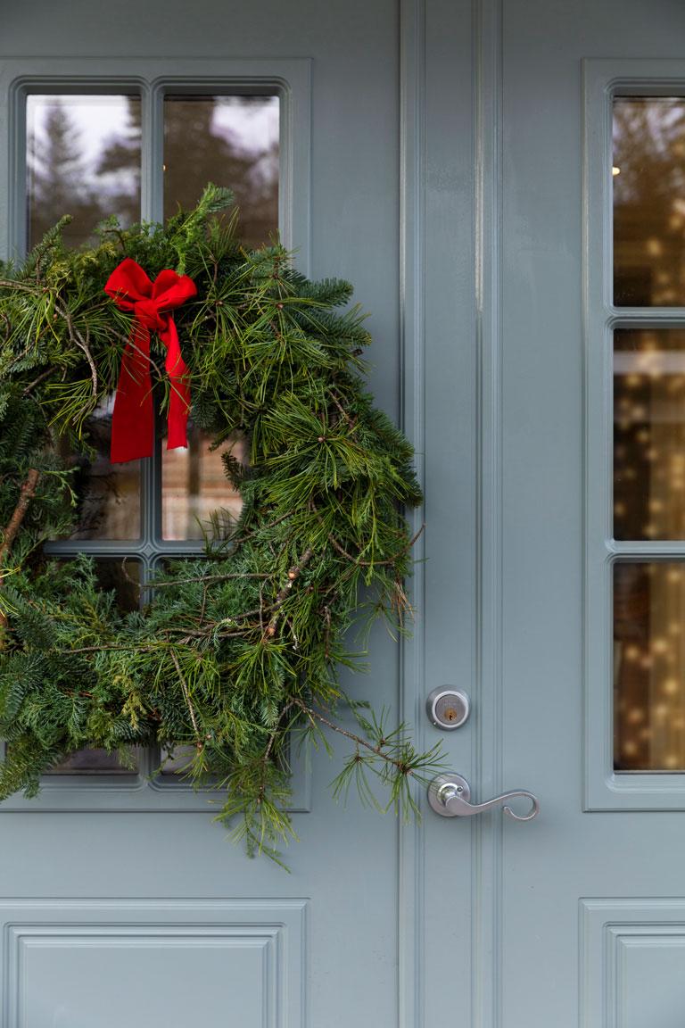 Gjør inngangsdøren klar til jul