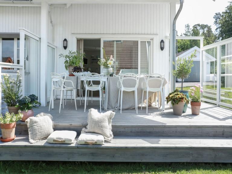 Ny og naturlig terrasse